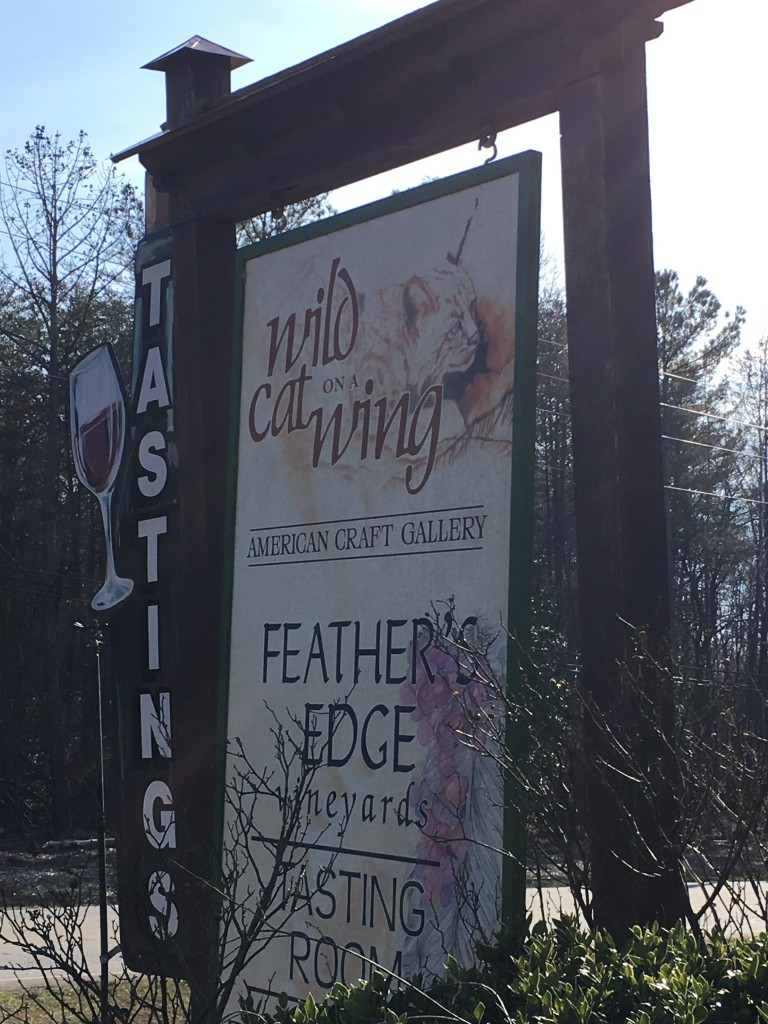 feather's edge, winery, north georgia, art, local