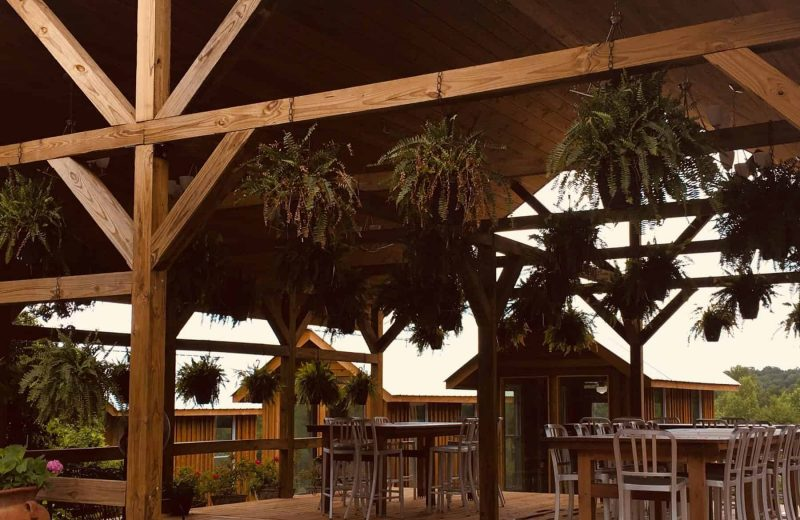 Outdoor Seating at the Frogtown Cellars Bistro