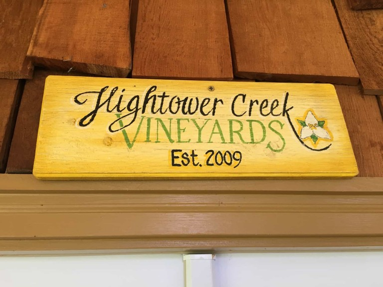 hightower creek, winery, north georgia, hiwassee, map