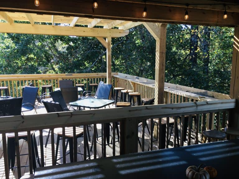 Cavender Creek Vineyards, Dahlonega, porch